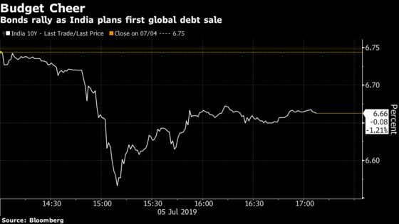India's Local Bonds Are Loving Modi's Plan to Sell Debt Abroad