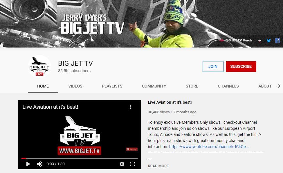 BIG JET TV YouTube
