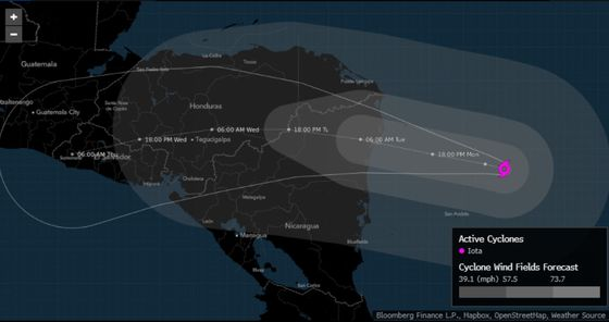 Strongest Storm of Hurricane Season Nears Central America