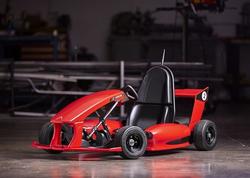 The Arrow Smart-Kart allows children to drive up to 12 miles per hour (and it allows parents to hit the brakes).