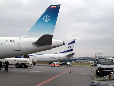 The Planes of President Rouhani and Prime Minister Netanyahu