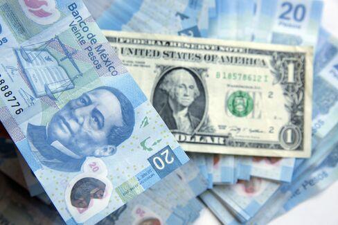 メキシコ・ペソとドルの紙幣