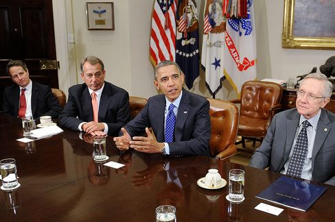 Obama Starts Fiscal Cliff Talks as Boehner Open to Revenue Boost