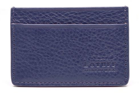 Lotuff stitches together its sturdy leather wallets in Connecticut.