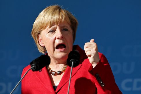 Merkel Says She's No Shoo-In for German Chancellor on Sept. 22