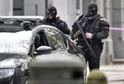Police in Brussels.