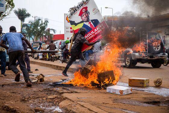 Riots Erupt in Uganda After Arrest of Presidential Candidate