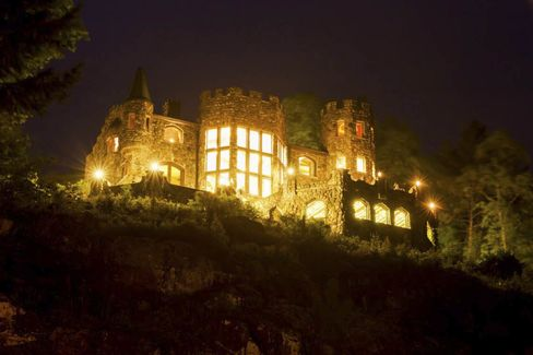 The 6,000-square-foot Highlands Castle has 180-degree views of the Adirondack Mountains.