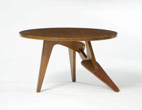 Coffee table in marine wood. Designed by Jose Zanine, Brazil, 1950s.