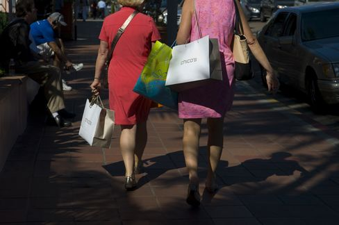 Shoppers Carry Chico's FAS Inc. Bags