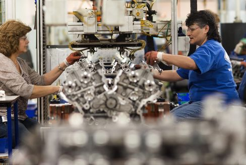 Employees Work at the Ford Motor Co. Engine Plant in Lima