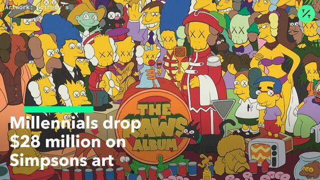 fc83df3e68dd Millennials in Hoodies Spend  28 Million on Simpsons-Themed Art ...