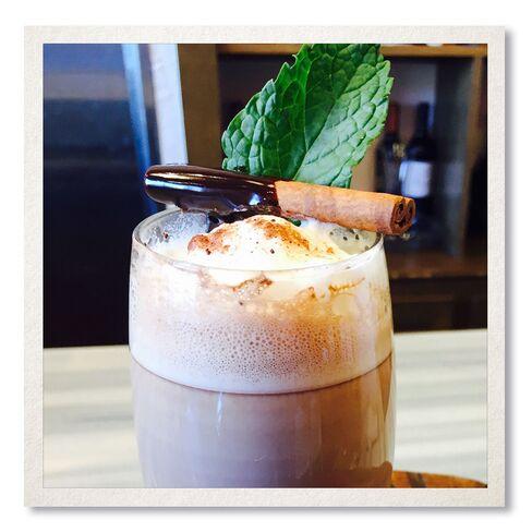 Caribbean Crème de Hot Chocolate at DW Bistro.
