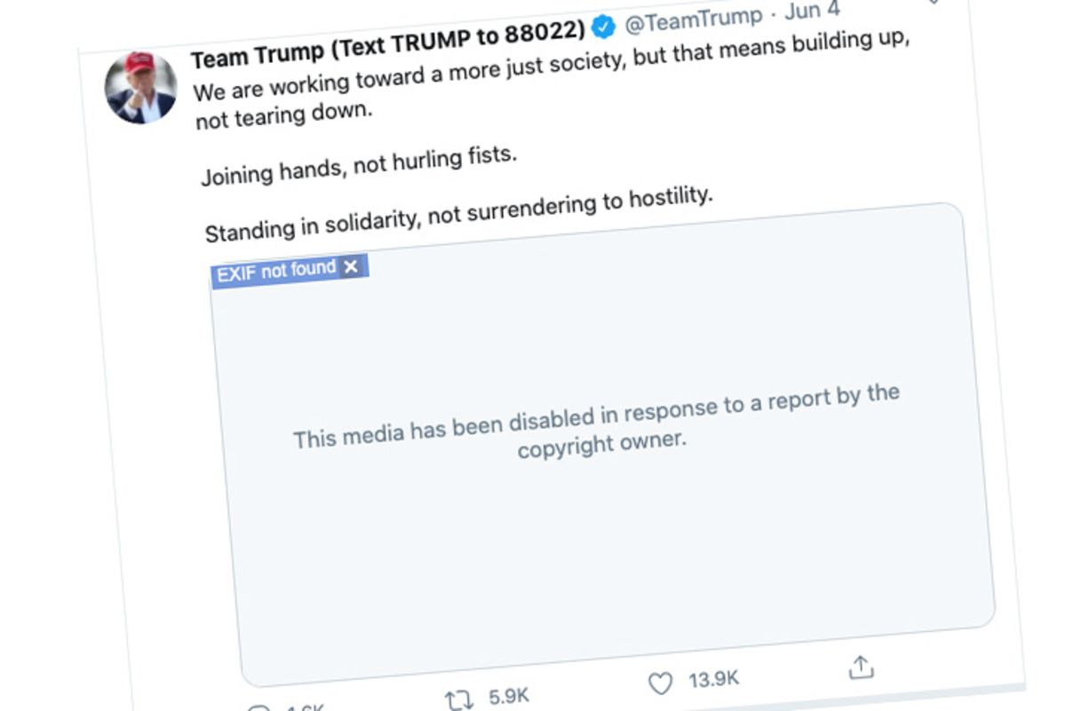 Twitter Removed Trump Floyd Tribute Video on Copyright Issue