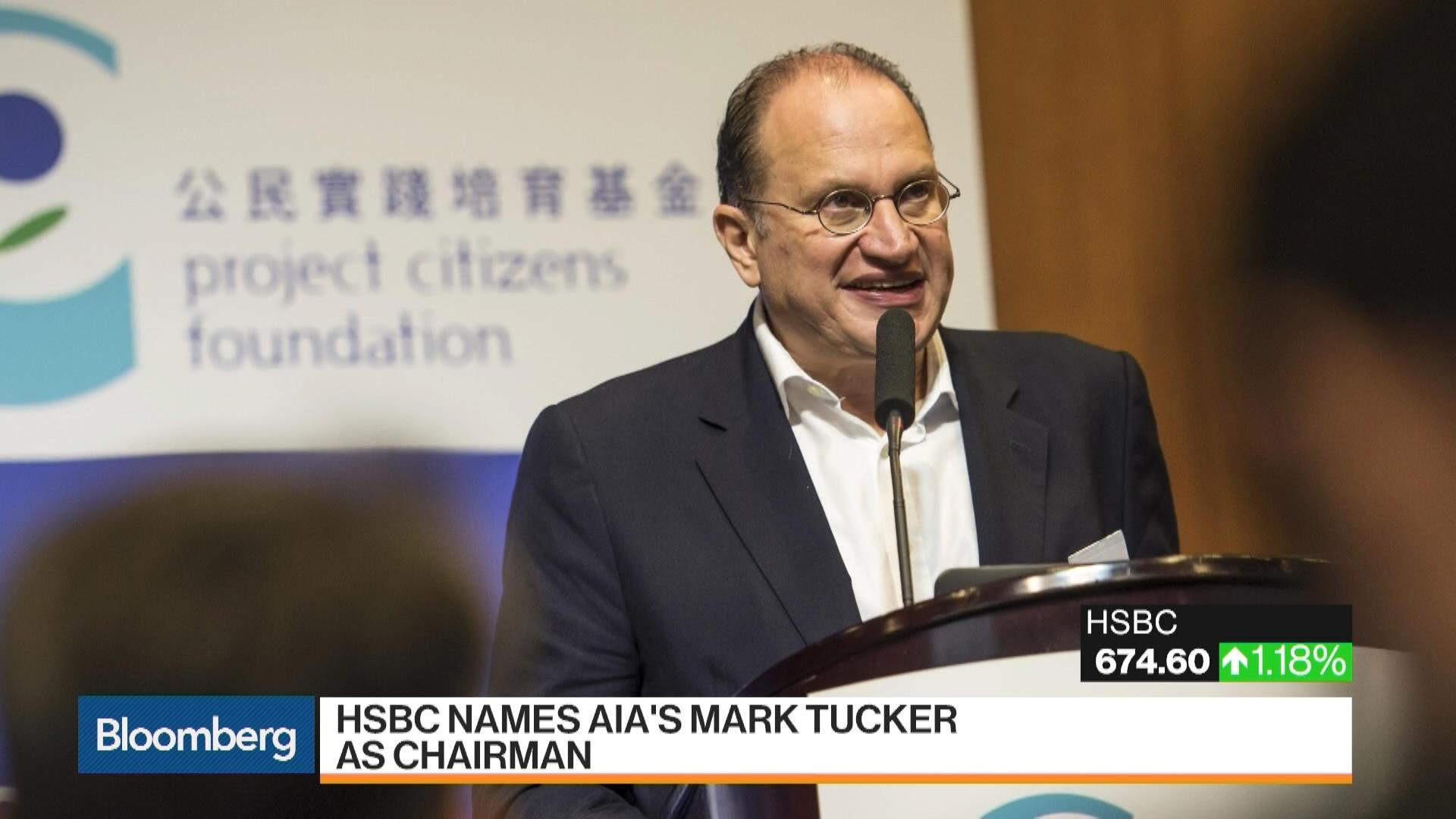 HSBC Said Close to Naming AIA's Mark Tucker as Chairman