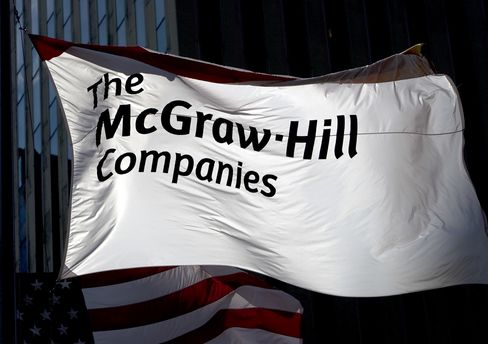 S&P Parent McGraw-Hill's Rating Reduced Two Steps by Moody's