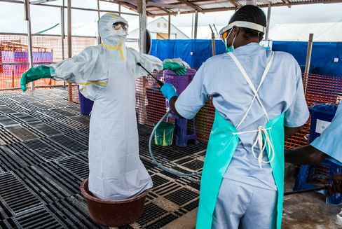 Ebola Treatment Center As Guinea Economy Rebuilds Ahead Of October Election