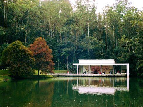 One of the 16 art pavilions at Inhotim, outside Belo Horizonte, Brazil.