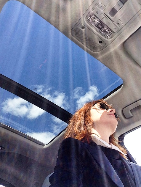 The Audi Q3 comes with a panoramic sunroof.