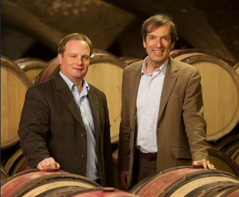 Gilles de Courcel (left), general manager of Domaine Chanson, and winemaker Jean-Pierre Confuron.