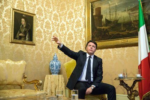 Italian Prime Minister Pier Matteo Renzi Interview