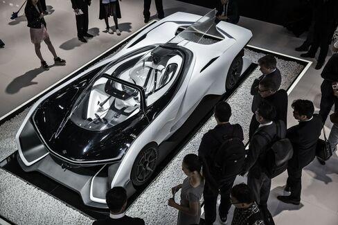 The Faraday Future FFZero1 concept vehicle.
