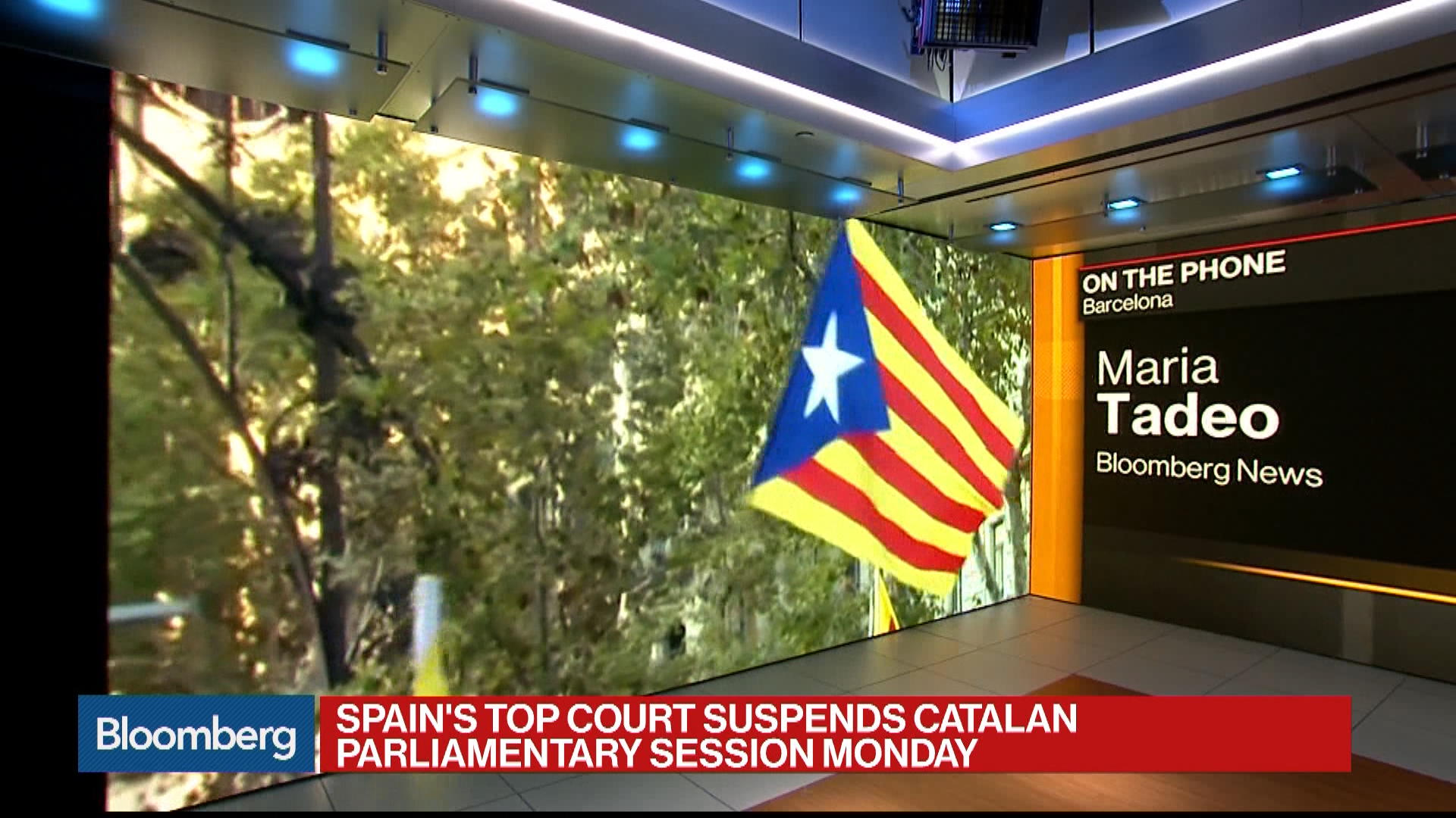 Bloomberg's Maria Tadeo reports on Spain's suspension of a Catalan parliamentary