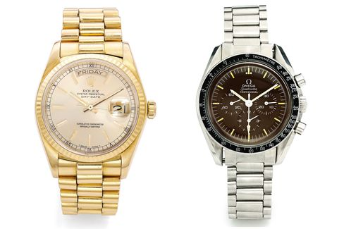 Gold Rolex dress watches and sporty chronographs are some of the best values in vintage watches.