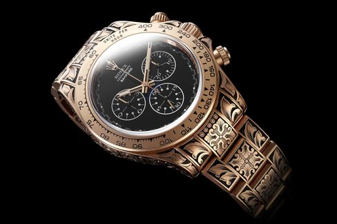 George Bamford's personal Rolex Daytona, whose engraving alone took in excess of 130 man hours.