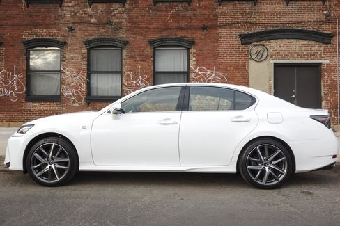 The GS 350 F Sport is a four-door sedan with space for five adults.