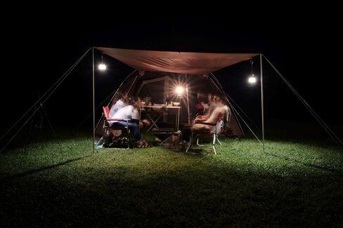 Campers in Niigata Prefecture.