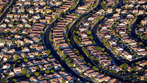 Rows of houses stand in Las Vegas on Sept. 22, 2009.