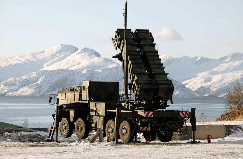 A Raytheon MIN-104 patriot missile defense system.