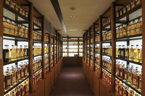 The whisky library at Yamazaki Distillery.