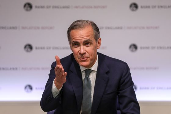 BOE's 'Bang in Line' GDP Forecast Gives Carney License to Smirk