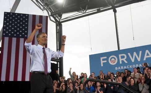 President Barack Obama campaigns