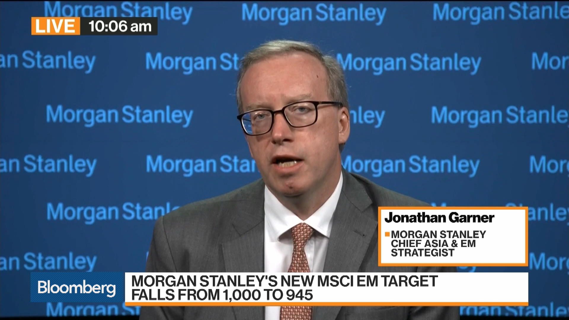 Morgan Stanley S Garner On Asian Market Outlook Bloomberg