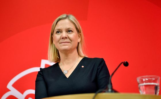 The First Woman Set to Run Sweden Has a Fight to Keep Power