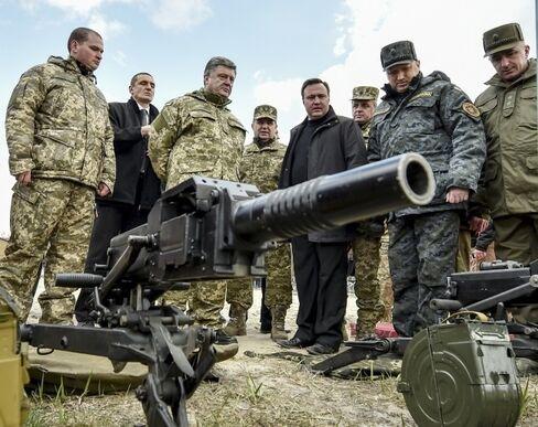 Ukrainian President Petro Poroshenko in Kiev