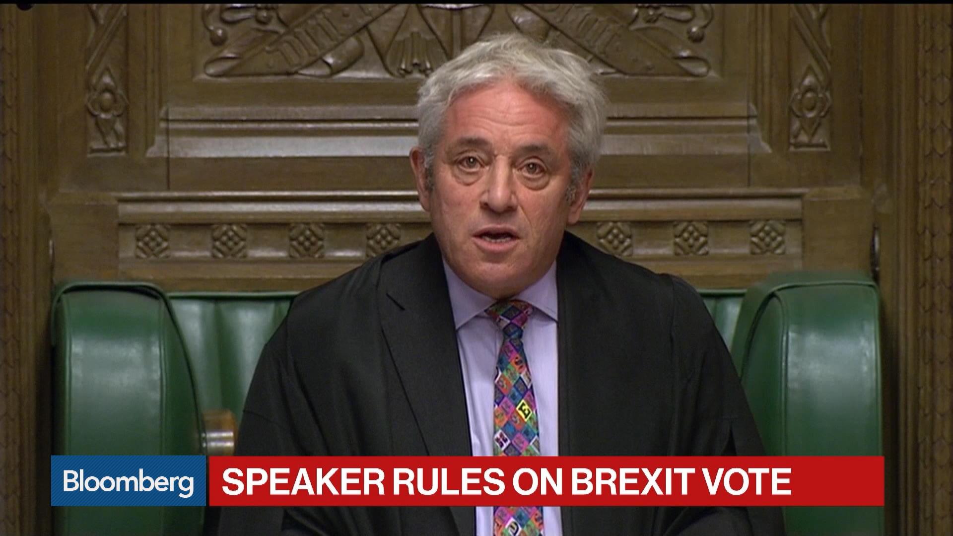 Johnson's Brexit Deal Blocked by U.K. Speaker Bercow Today
