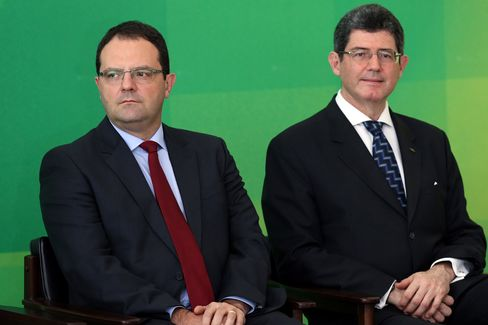 Finance Minister Nelson Barbosa Inauguration With President Rousseff