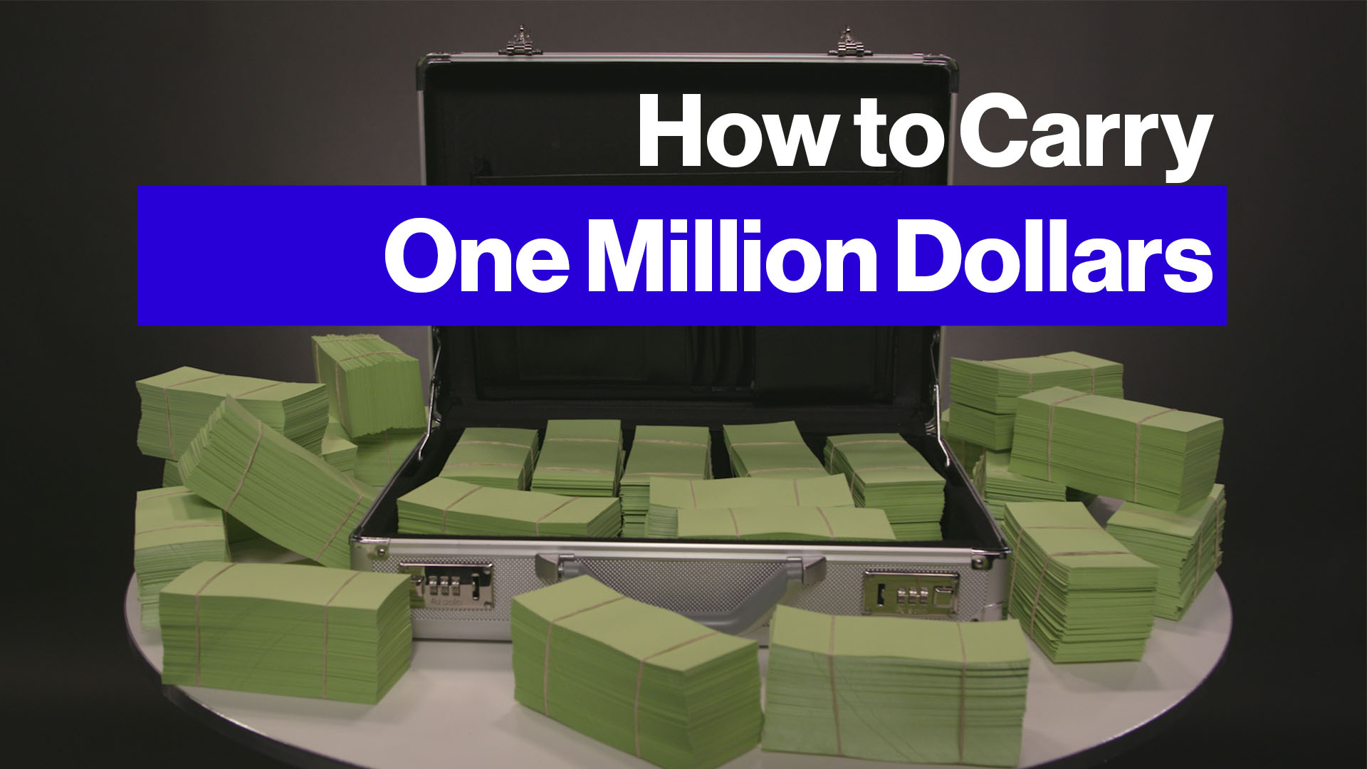 How to Carry $1 Million in Cash - Bloomberg
