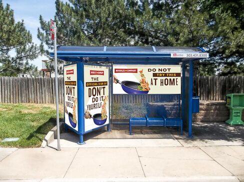 Noodles & Co. bus-stop ad