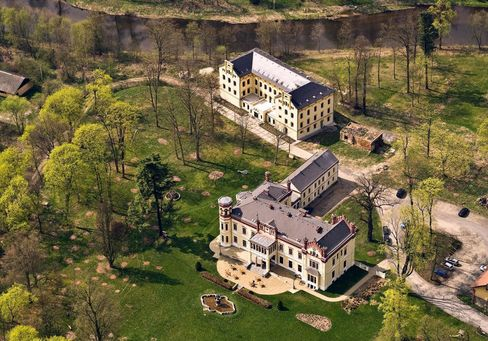 €1.5 million: Chateau Mostov has been repurposed into a hotel, with 100 guest beds, plus a dungeon.