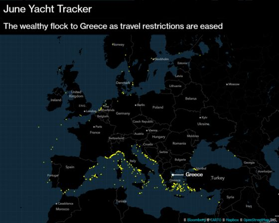 World's Rich Steer Superyachts to Greece After Covid Reopening
