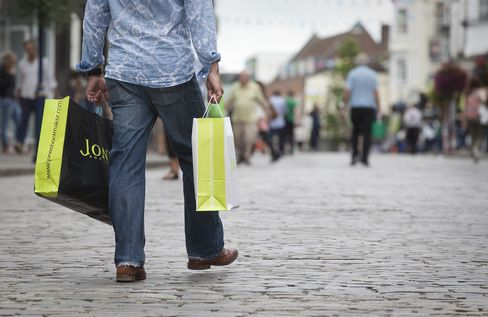 U.K. Retail Sales Drop More Than Forecast on Food, Clothing