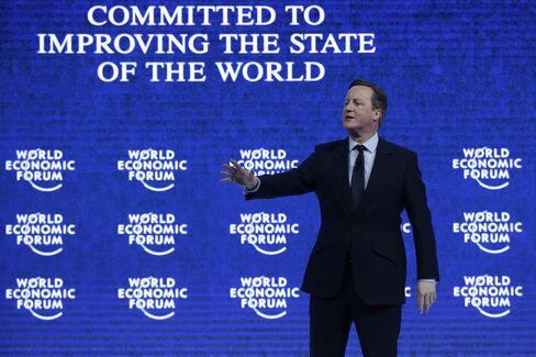 David Cameron in Davos