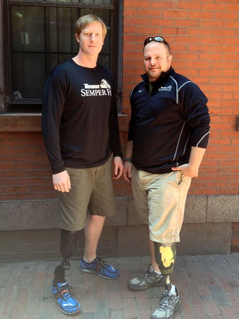 Boston Bombing Victims Start Rehab, Meet With Amputee Vets