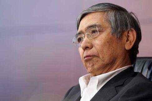Haruhiko Kuroda, governor of the Bank of Japan.