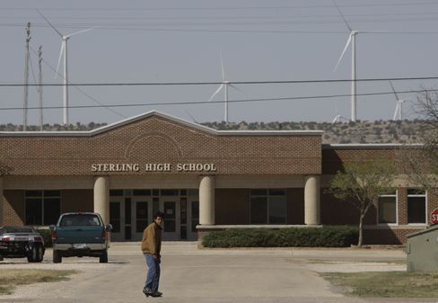 Texas Wind Turbines Make Schools Give to Poor Under Robin Hood